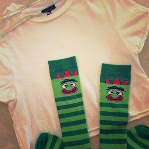 Knee-Hi Socks With Brobee Design